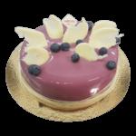 Blueberry mousse ice skating cake