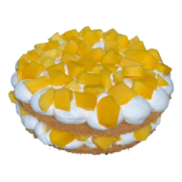 Kunafa cake with mango