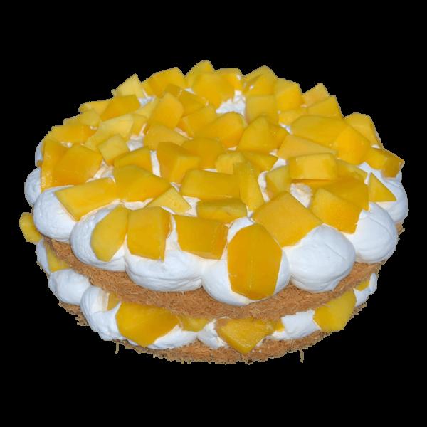 Kunafa cake with mango