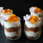 Kunafa with Baladi Fresh Cream and Mango