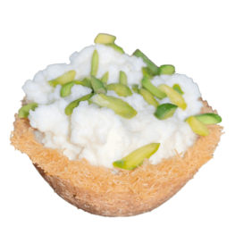 Kunafa with Kushta