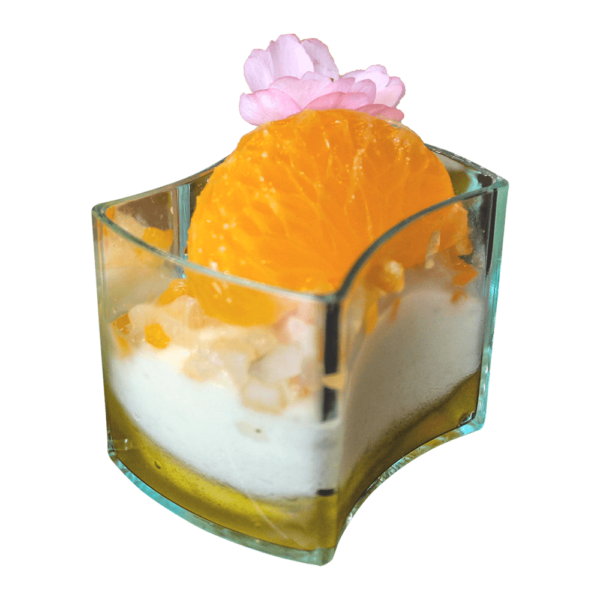 Orange with Vanilla Cream Verrine
