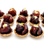 Dates, sesame, tahini paste, pistachio, dark chocolate