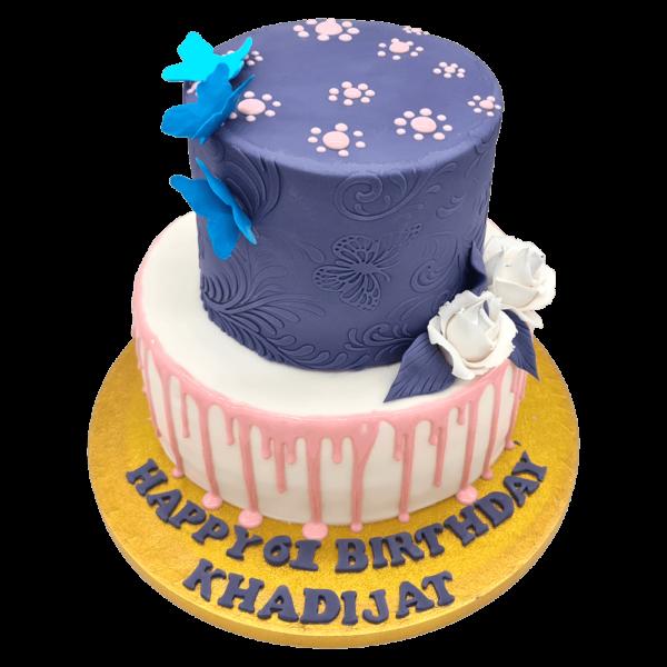 The Navy Blue Birthday Cake